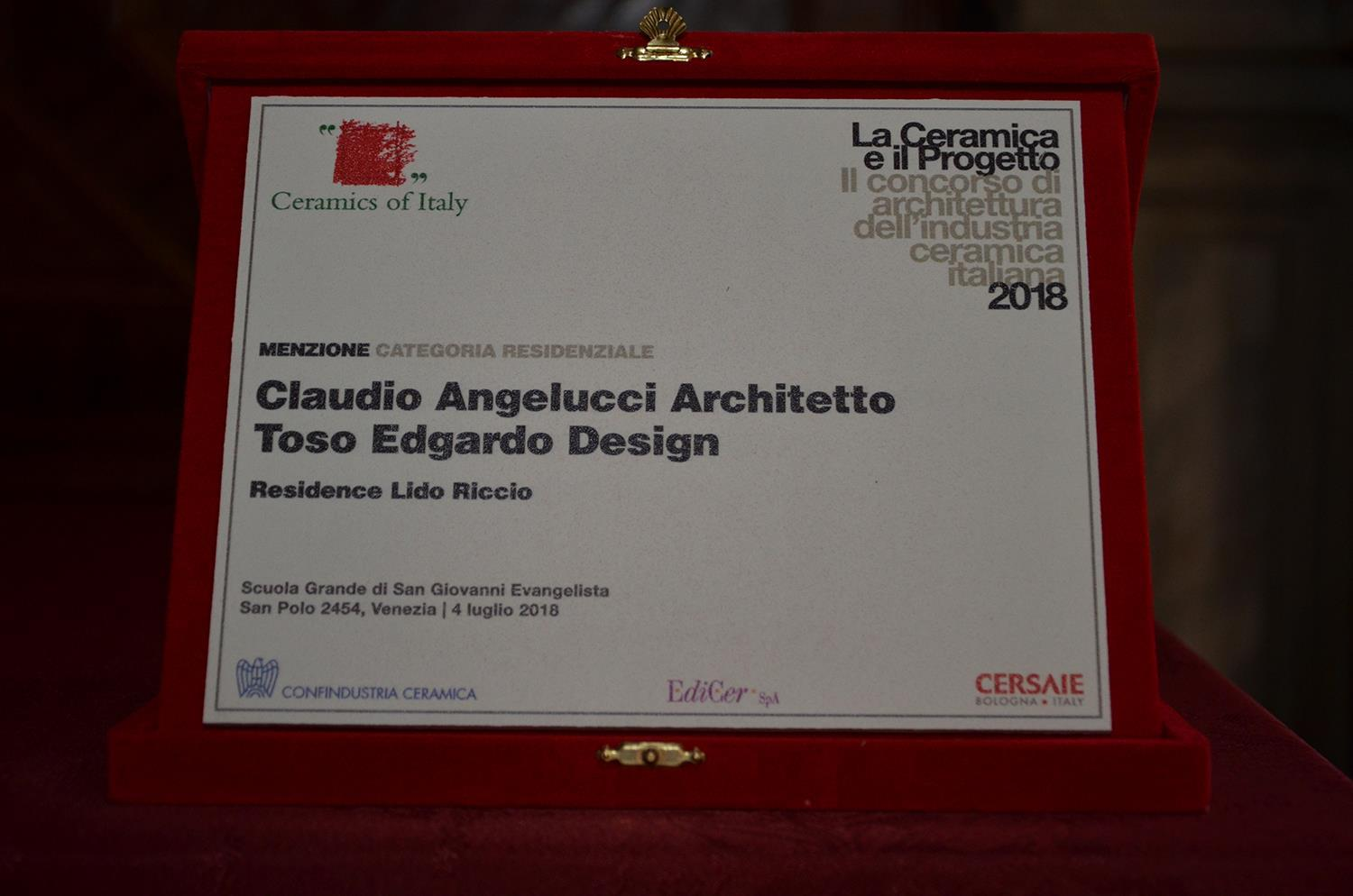 Cotto d'Este recibe la mención de honor en el concurso «La Ceramica e il Progetto 2018»: Photo 3